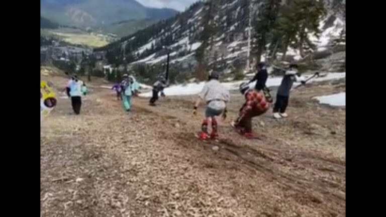 Dirt Skiing, An End-Of-The-Season Tradition Like No Other