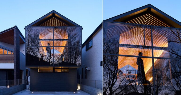 glassed-in balcony fronts apollo architects' timber 'grace' house in tokyo