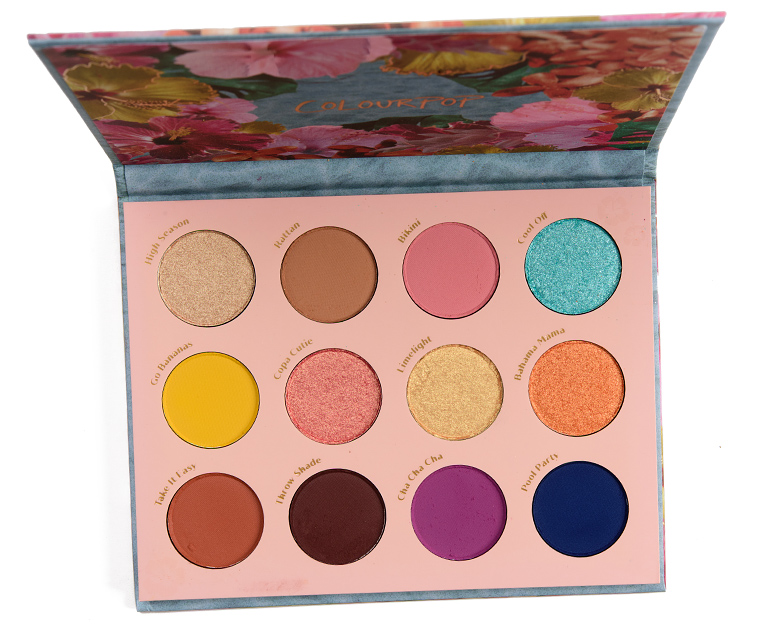 ColourPop Cabana Club Eyeshadow Palette Review & Swatches