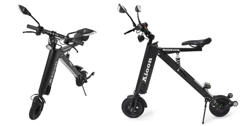 'aioon' compact + lightweight electric bikefolds in 5 seconds to carry around everywhere