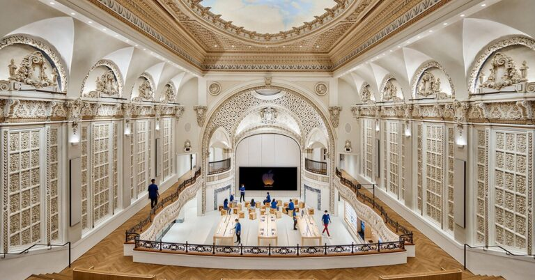 foster + partners transforms los angeles' historic tower theatre into an apple store