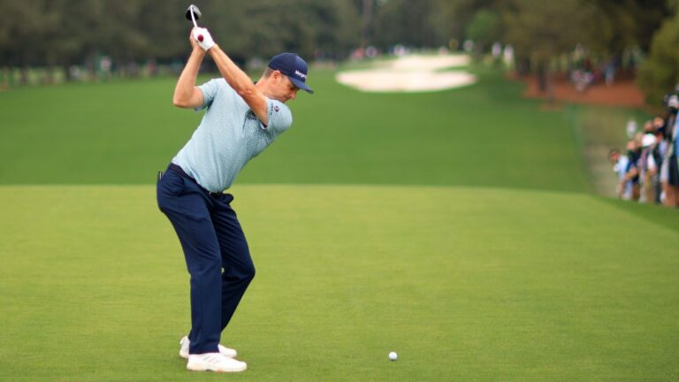 Justin Rose salvages shaky start with second-round 72 to stay in front at Masters
