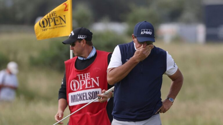 Phil Mickelson finishes at 12 over par, misses cut at The Open