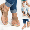 Thong lace ladies sandals openwork flat sandals