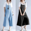Strap casual loose large size wide leg one-piece overalls
