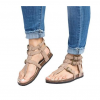 Flat bottom ankle strap buckle sandals
