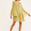 Yellow Floral Loose Dress