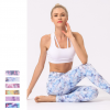 Breathable hips floral tights women