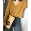 Knit cardigan coat female 2020 new Korean version of the loose chic early autumn lazy wind shirt tide