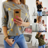 Autumn long-sleeved T-shirt with round collar and skull in Europe and America