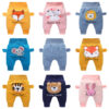 Baby high waist belly protection trousers