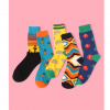 Literary abstract stockings personality men's cotton socks