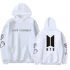 Men and women loose hooded sweater