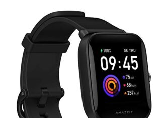 Amazfit Bip U Health Fitness Smartwatch with SpO2 Measurement, 9-Day Battery Life, Breathing, Heart Rate, Stress, Sleep… -