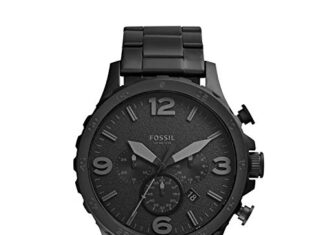 Fossil Men's Nate Stainless Steel Quartz Chronograph Watch -
