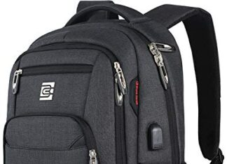 Laptop Backpack,Business Travel Anti Theft Slim Durable Laptops Backpack with USB Charging Port,Water Resistant College… -