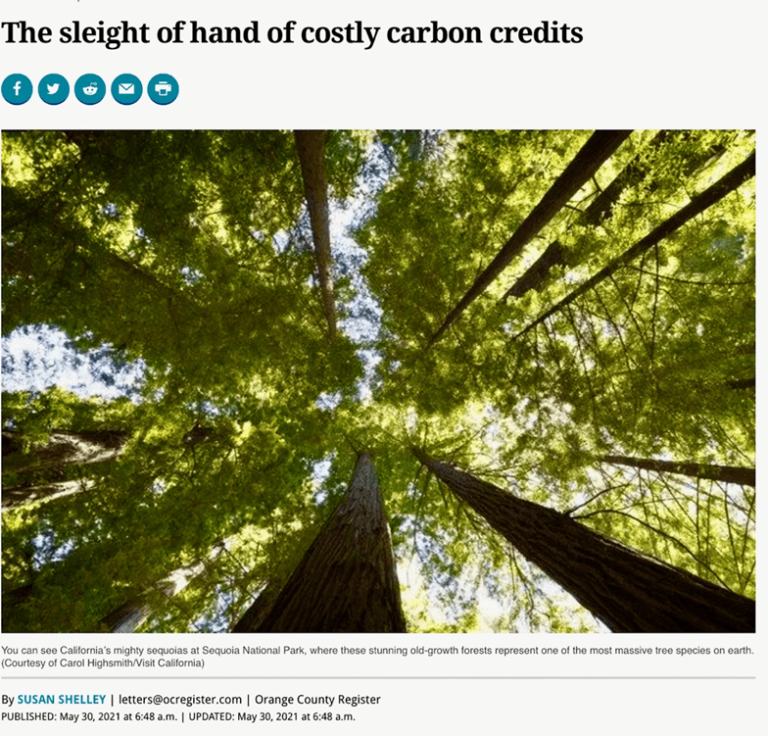 """California's Costly """"Cap and Trade"""" Forest Emission Offsets Program Just Climate Alarmism Incompetence – Watts Up With That?"""