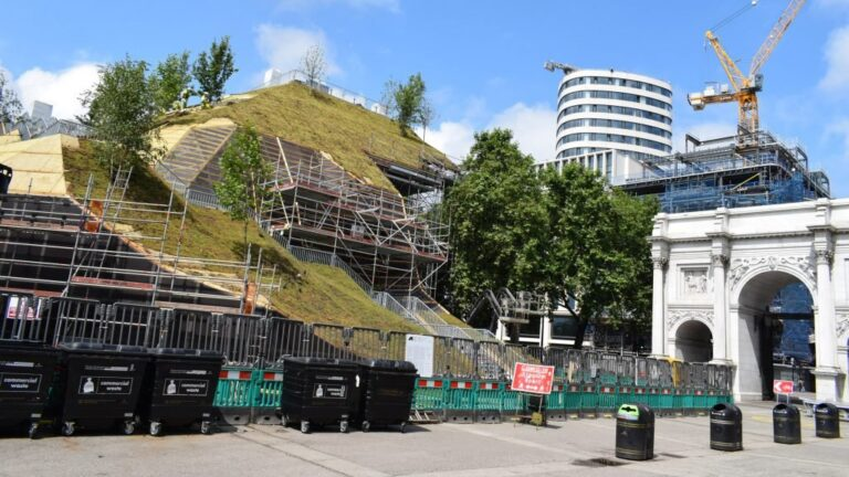 MVRDV's Marble Arch Hill viewpoint rises in London