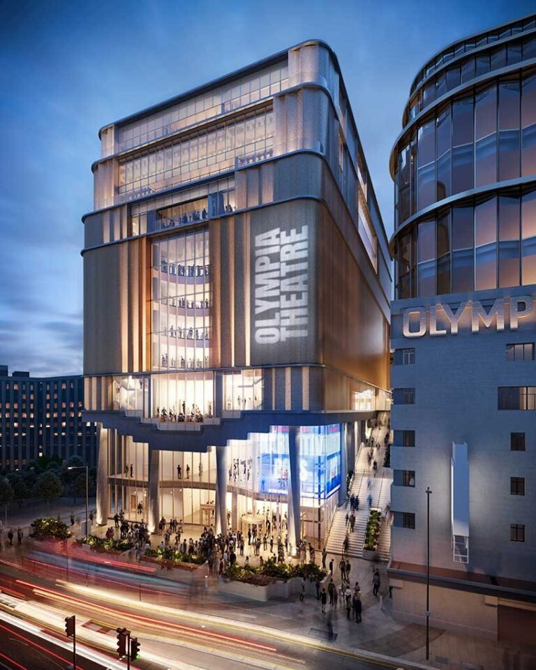 heatherwick, haworth tompkins and SPPARC share details on new olympia theatre design