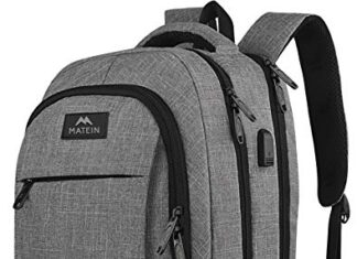 Matein Travel Laptop Backpack, Business Anti Theft Slim Durable Laptops Backpack with USB Charging Port, Water Resistant… -