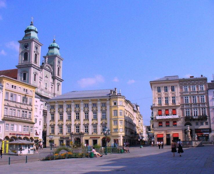 Главная площадь города Линц