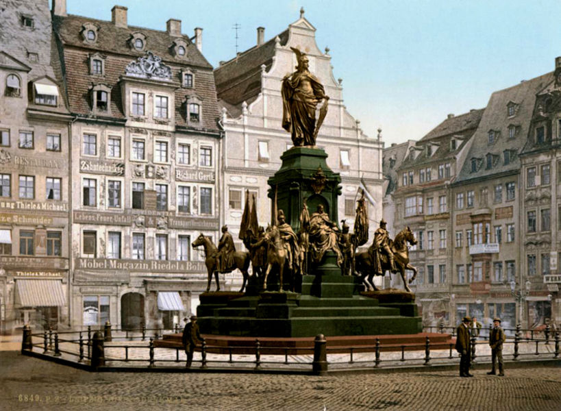 Улочки Старого города Лейпциг