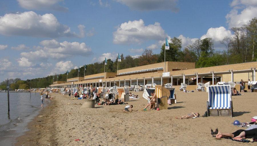 Пляж на озере Ваннзе