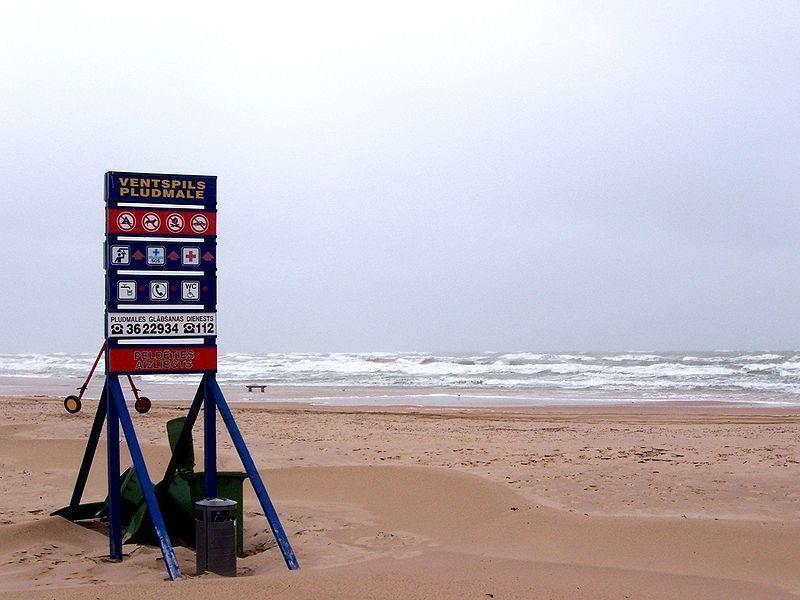 Вентспилский пляж