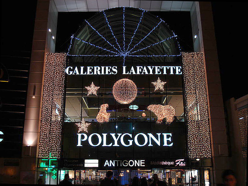 Shopping center Galeries Lafayette, Montpellier