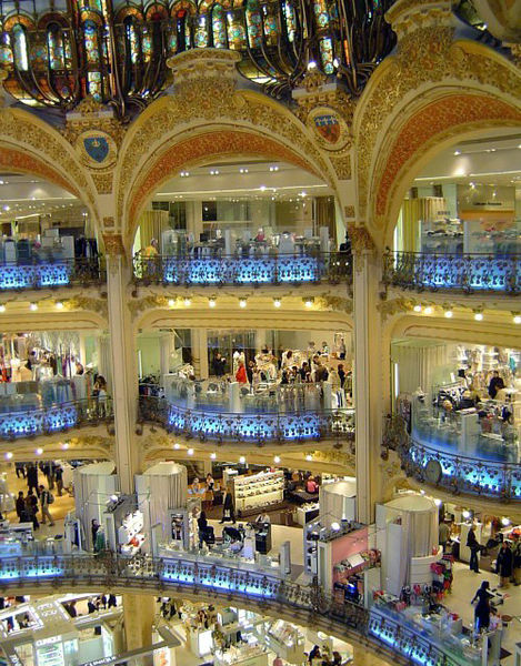 Shopping center Galeries Lafayette Paris Haussmann