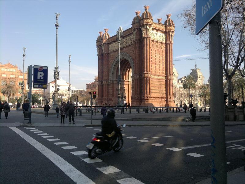 Январская Барселона