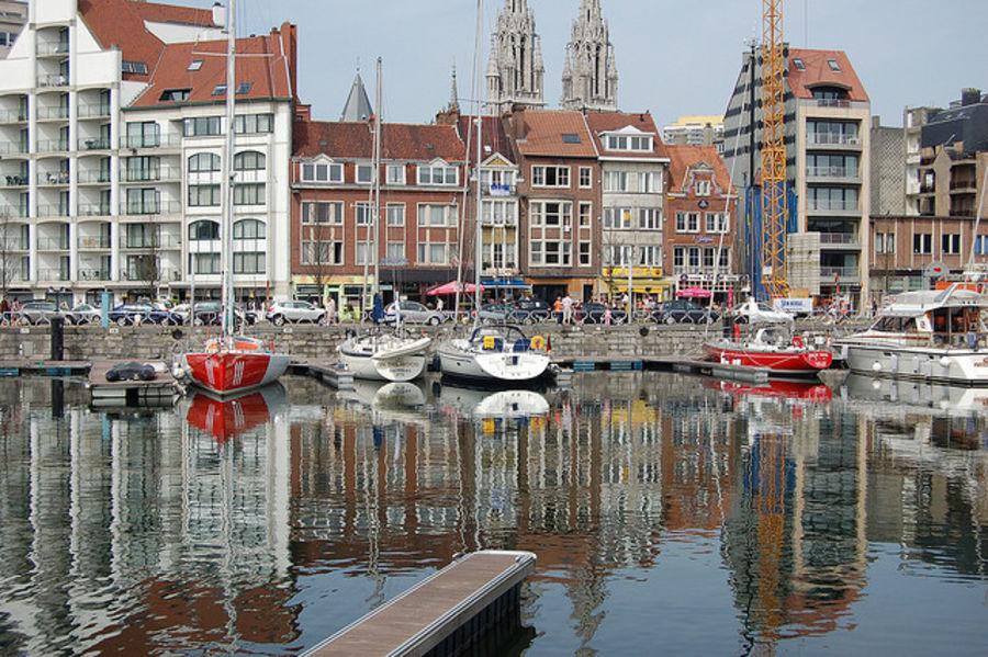 Крупный бельгийский порт -Остенде