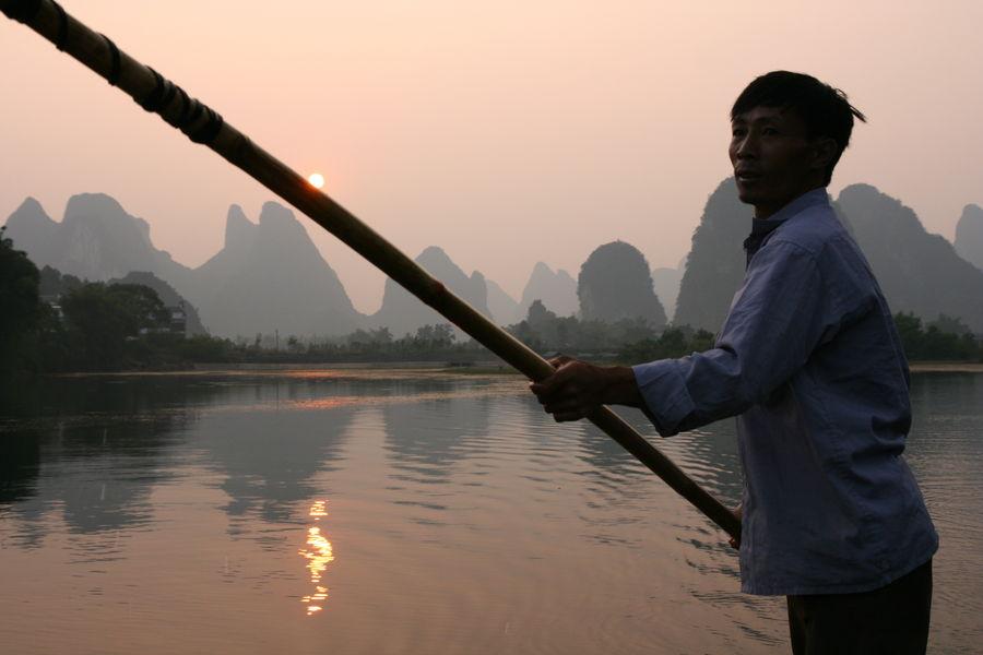 Рыбалка с бакланами в Яншо
