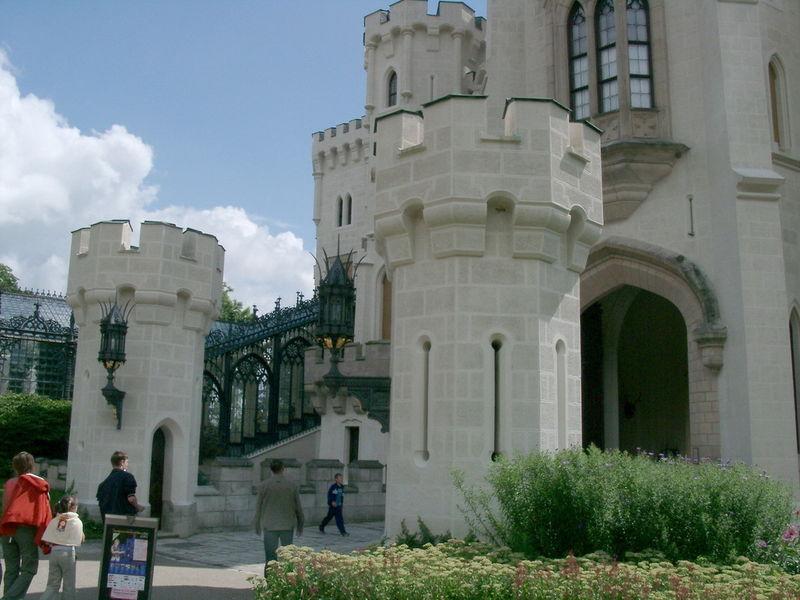 Посещение замка Глубока