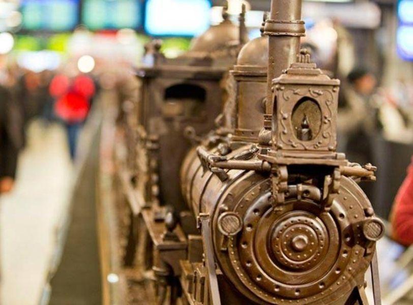 Шоколадный поезд в Брюсселе