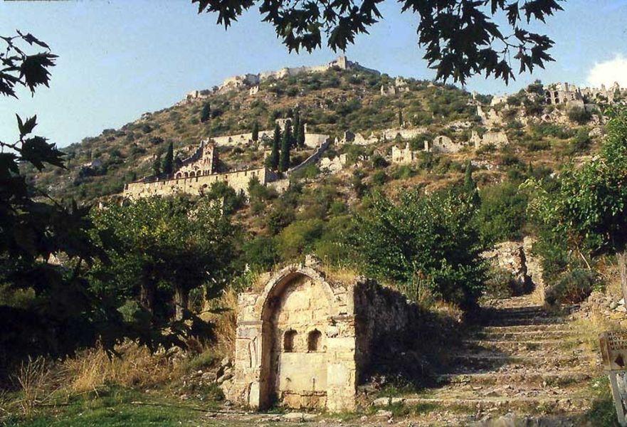 Византийская крепость Мистрас