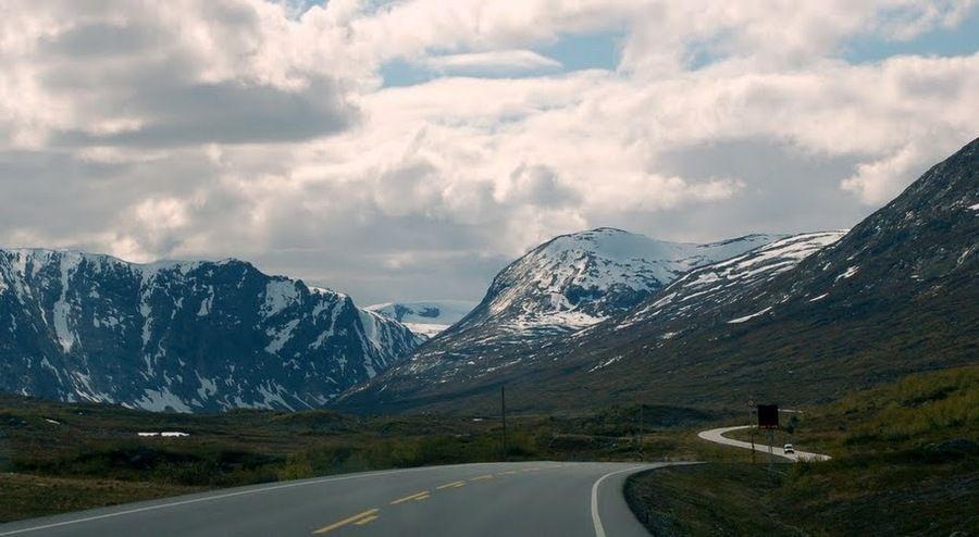 Путь к вершине Dalsnibba, Норвегия
