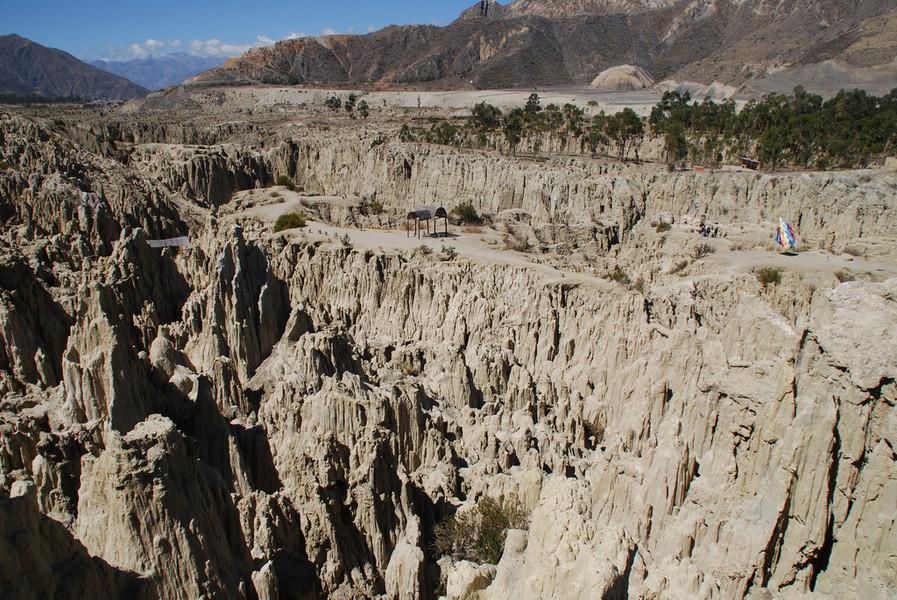 Лунная долина в Боливии