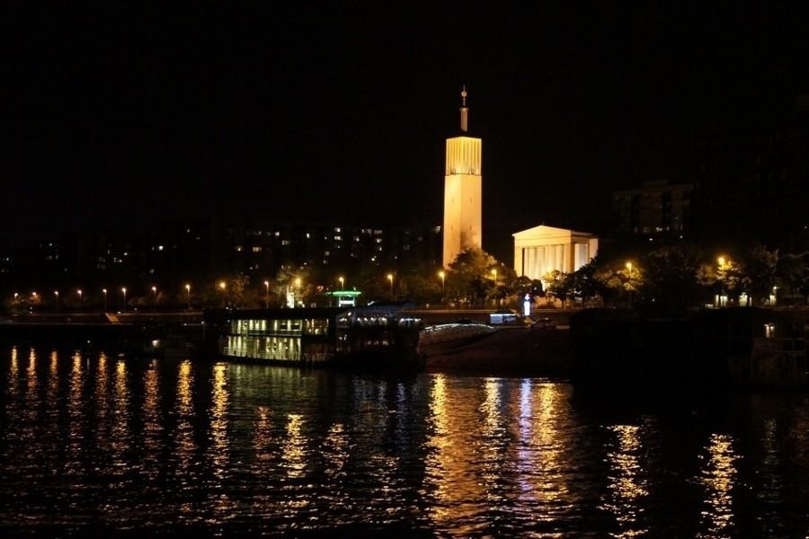 Ночной Будапешт с воды