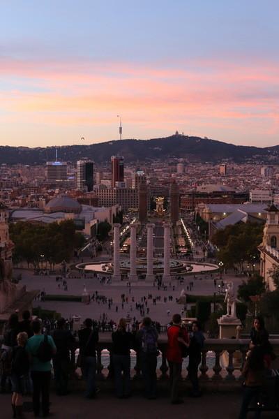 Вечер на горе Монжуик, Барселона