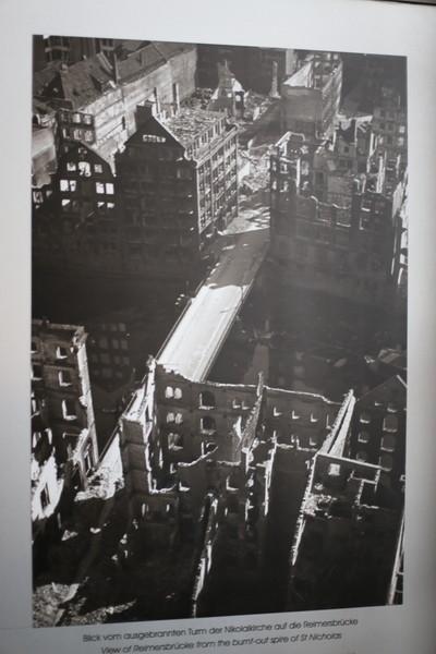 Разрушенная церковь Святого Николая в Гамбурге