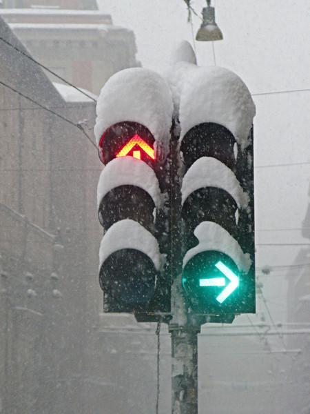 Снегопад в Болонье