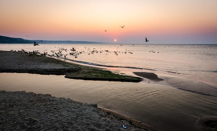 Закат, курорт Албена, Болгария