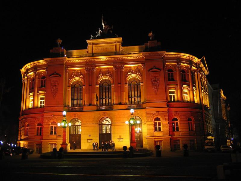 Ночные огни Варшавы