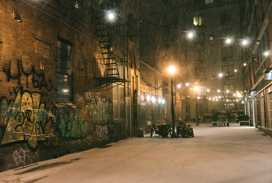 Заснеженный Нью-Йорк. Январь 2014
