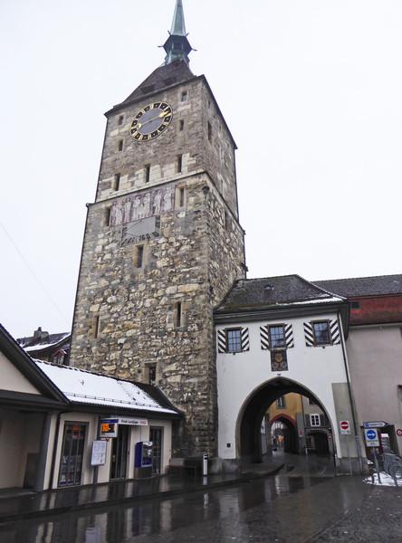 Арау на севере Швейцарии, январь 2015