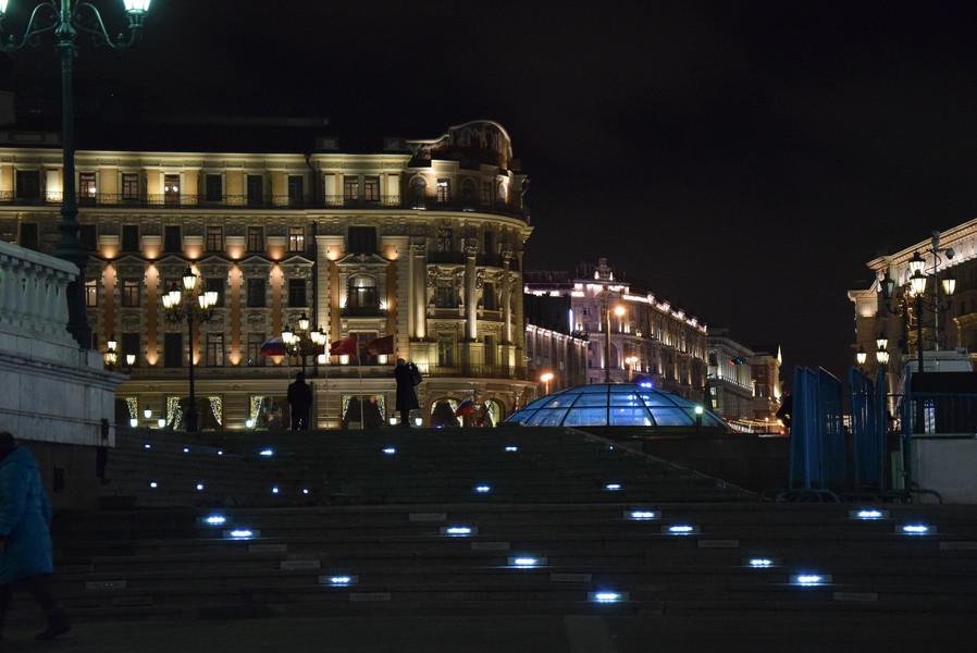 Москва на пороге 2016 года. Прогулка по вечернему центру города