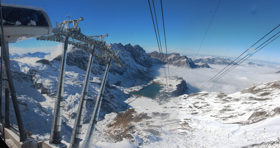 Подъем на гору Титлис, Швейцария