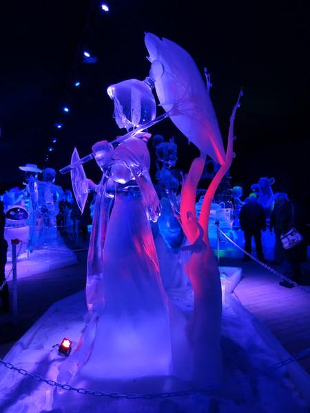 Выставка ледяных скульптур диснеевских персонажей в Меце