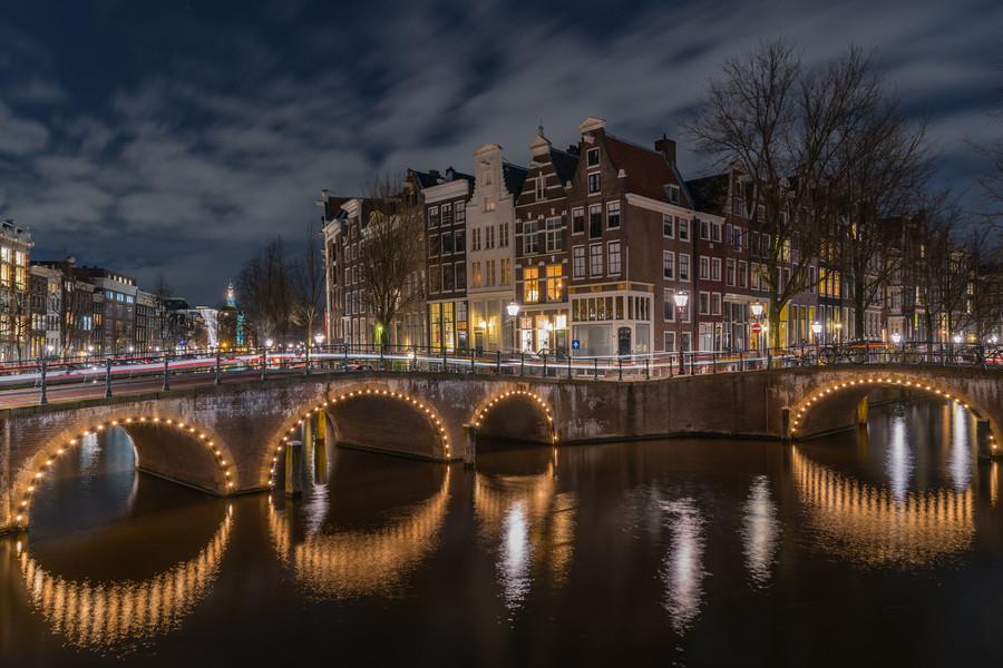 Вечерние улицы Амстердама, Нидерланды